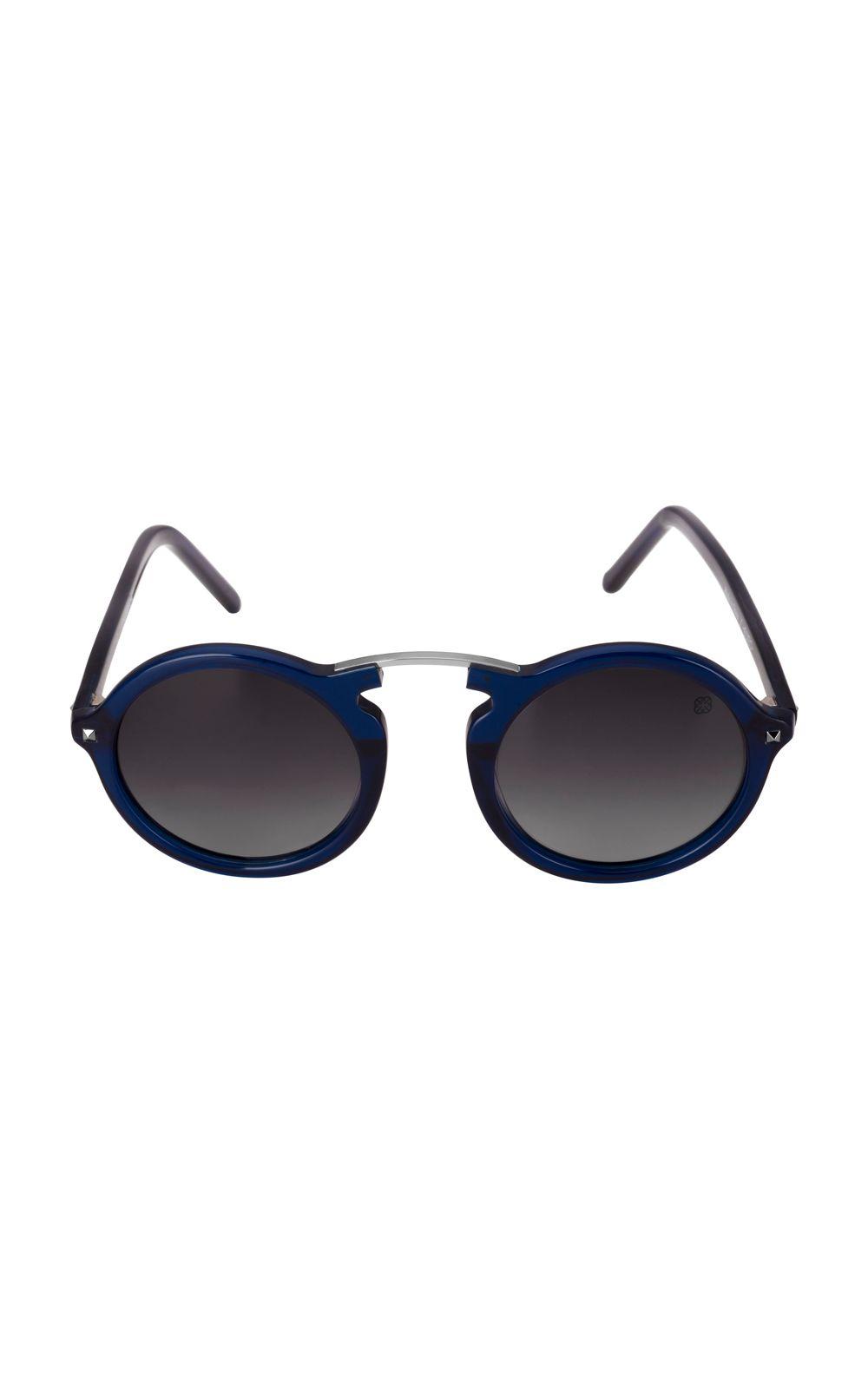 Foto 1 - Óculos Euro Casual Vintage Feminino Azul E0033K1547/8C