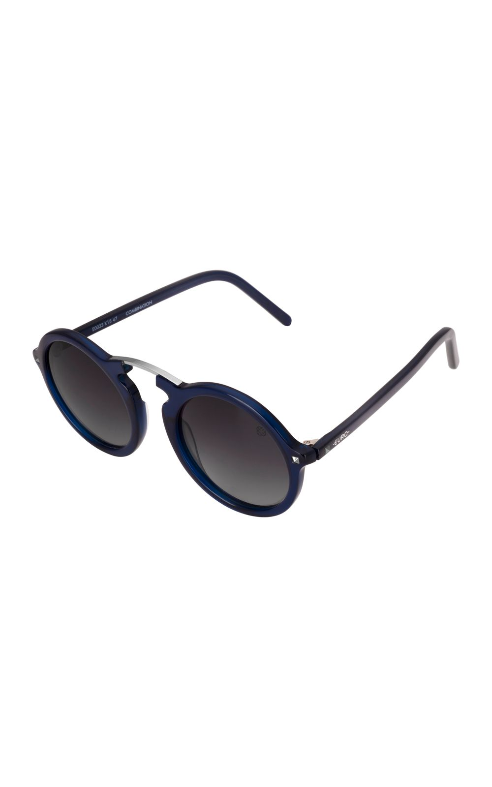 Foto 2 - Óculos Euro Casual Vintage Feminino Azul E0033K1547/8C