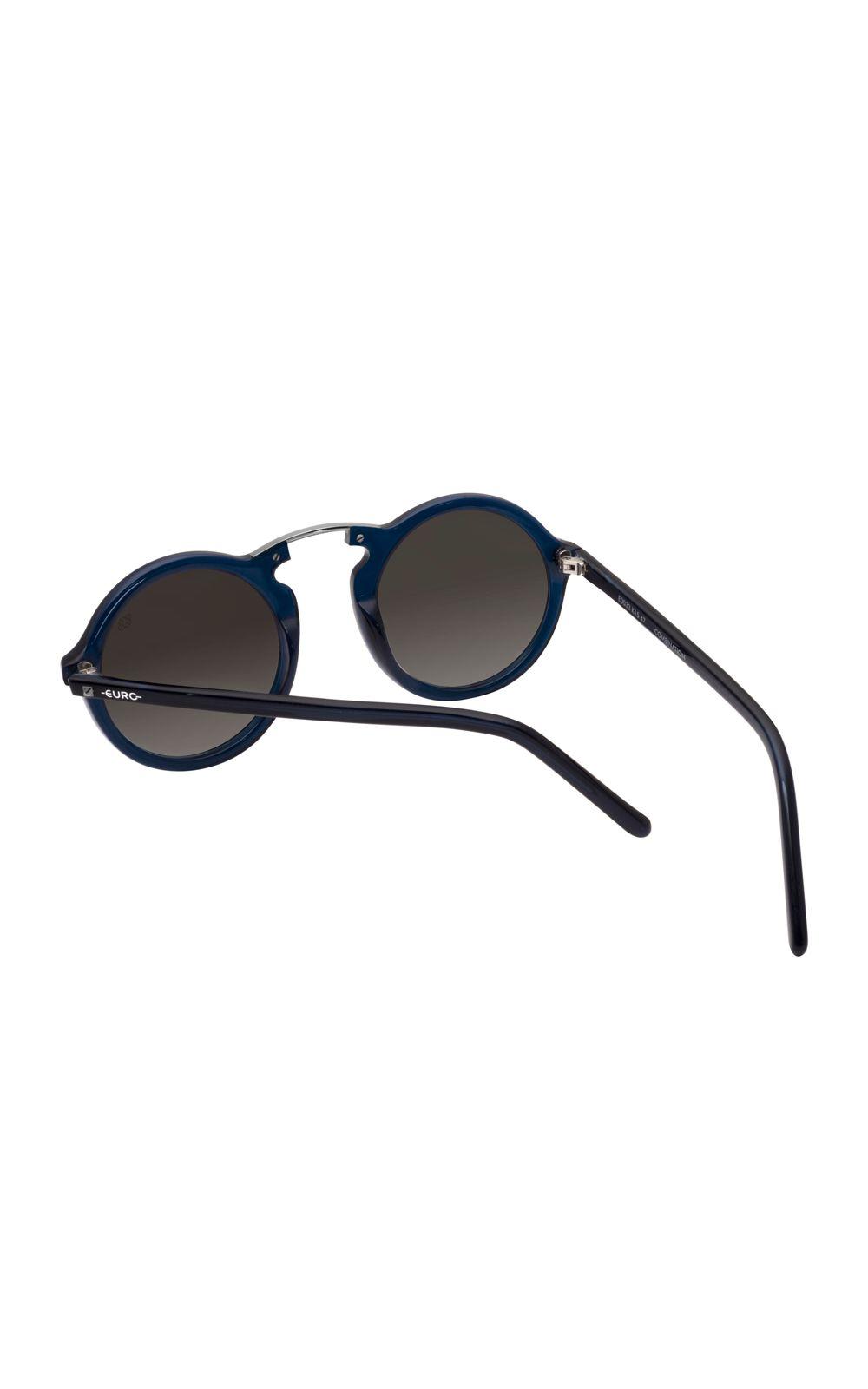 Foto 3 - Óculos Euro Casual Vintage Feminino Azul E0033K1547/8C