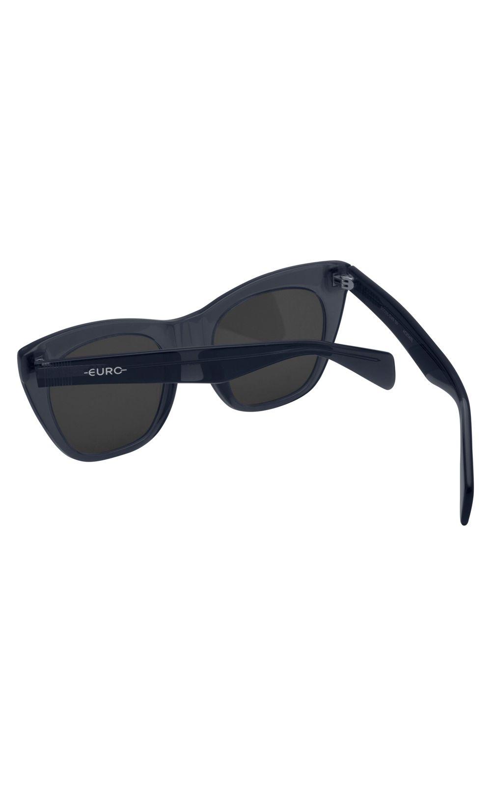 Foto 3 - Óculos Euro Power Shape Feminino Fumê E0036D4909/8C