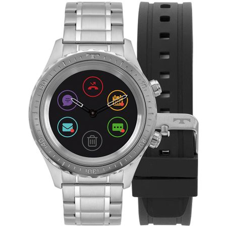Relógio Technos Connect Duo Prata P01AA/1P