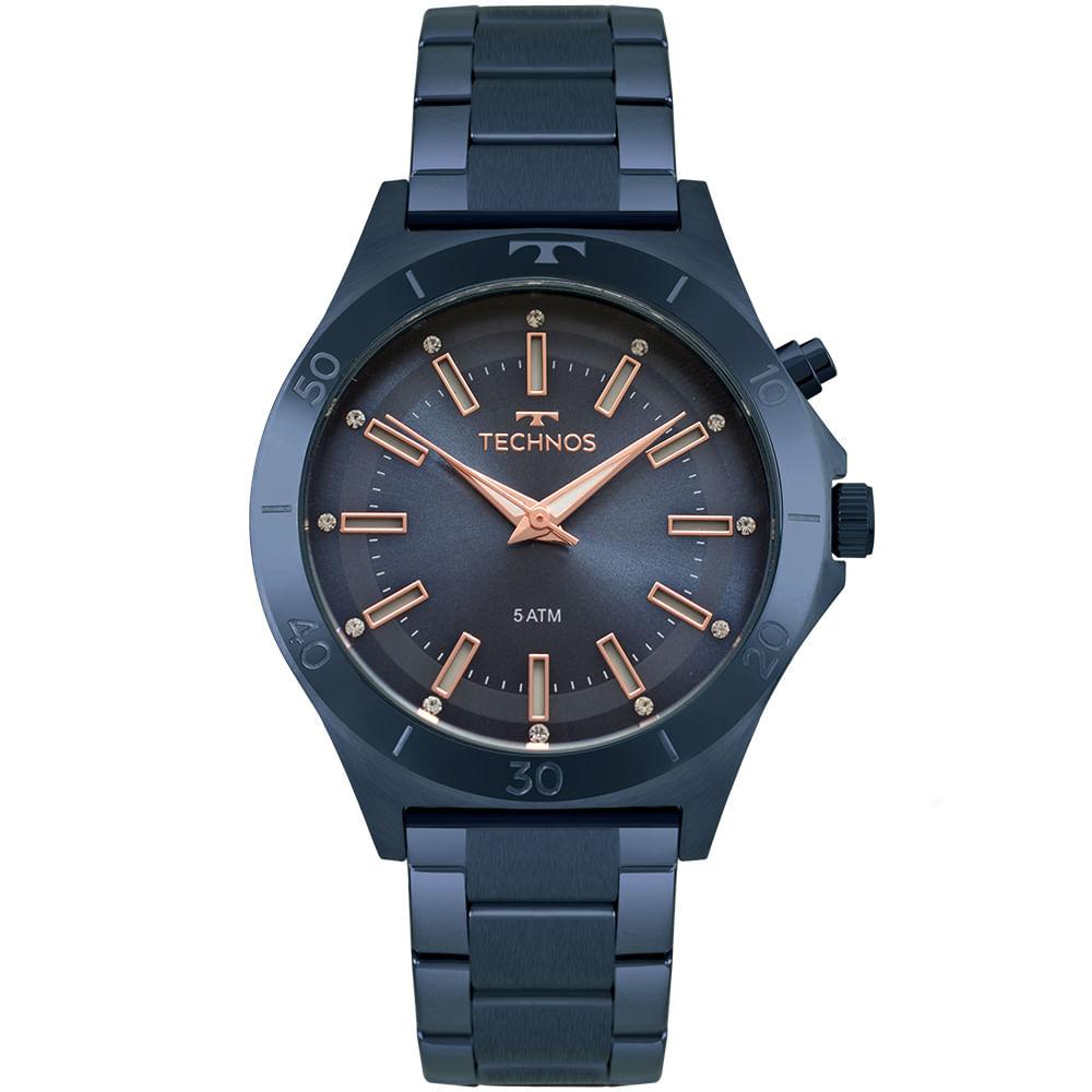 Relógio Technos Feminino Trend Azul Y121E3AC 4A - timecenter 31a2273a60