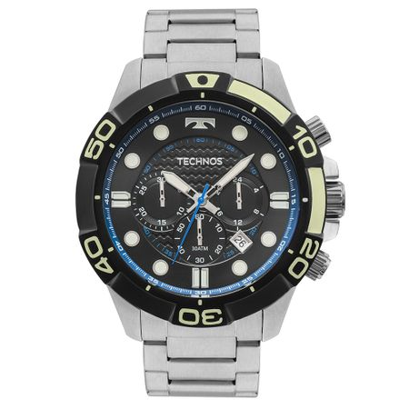 Relógio Technos Acqua Masculino Prata JS25BQ/1P