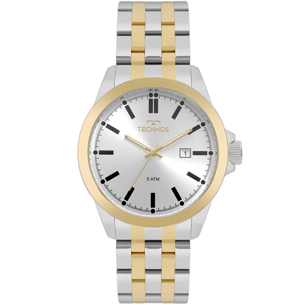 2f68971d7e3 Relógio Technos Masculino Steel Bicolor - 2115MPX 5K - timecenter