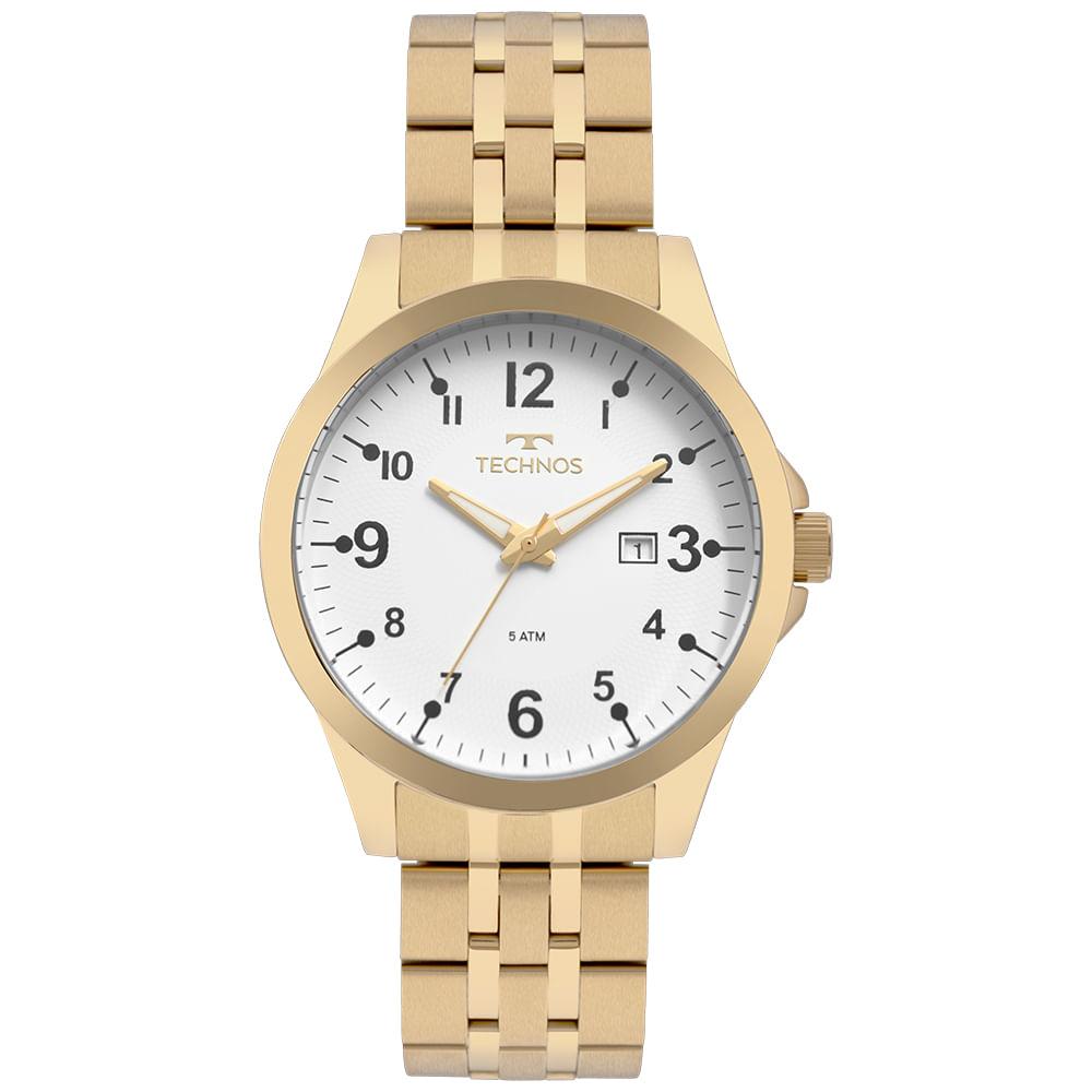 dd06e6ad557ee Relógio Technos Masculino Steel Dourado - 2115MQD 4B - timecenter
