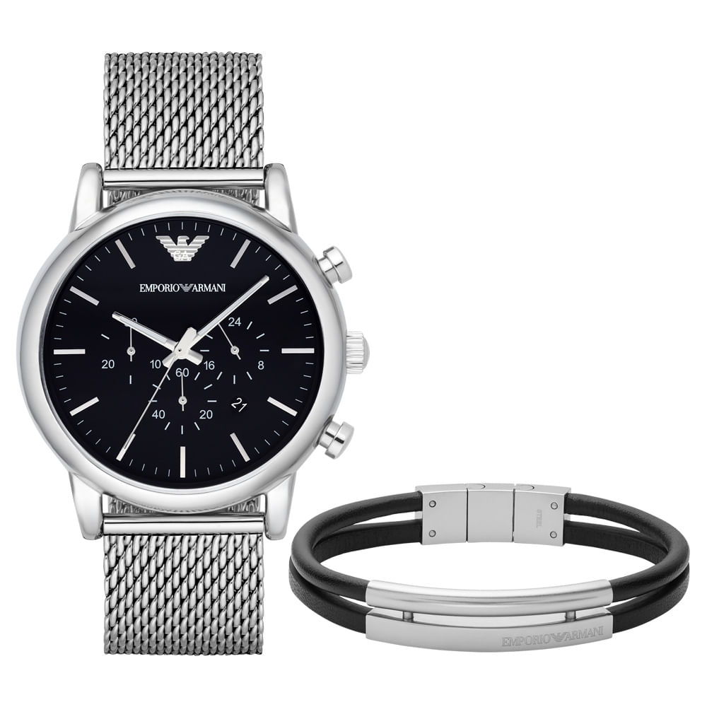 Relógio Emporio Armani Feminino - AR8032 S1PN - timecenter 79bfdb027a
