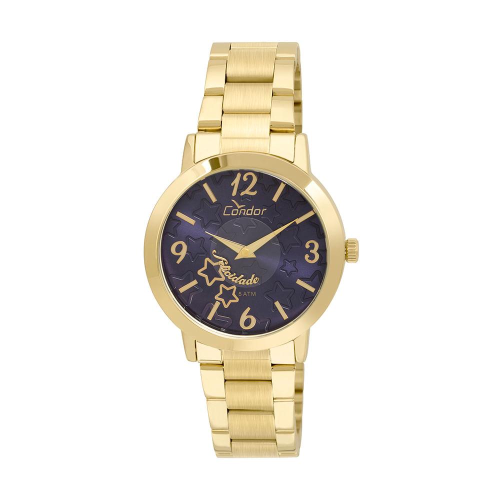 54f1c3a13aa65 Relógio Condor Feminino Disco Dourado - CO2035KUP 4A - timecenter