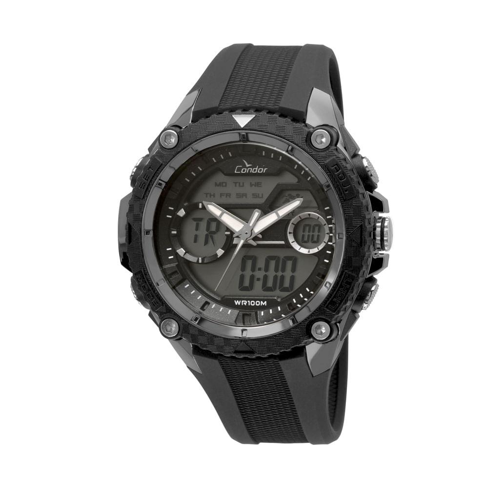 fb6c998ab7 Relógio Condor Masculino Anadigi Prata - COAD1146AB 3P - condor