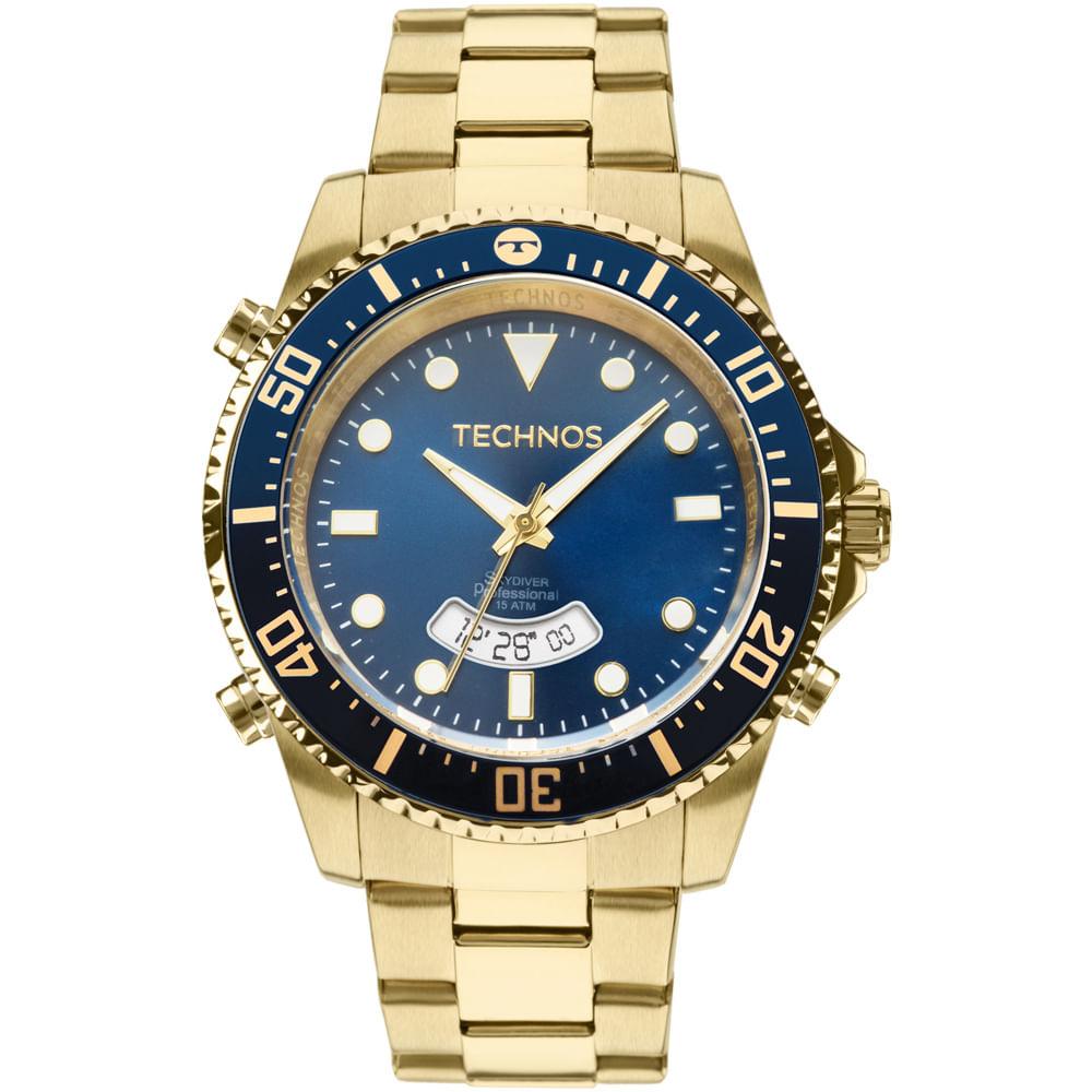 d49d8641aba Relógio Technos Masculino Skydiver Dourado - T205JD 4A - timecenter