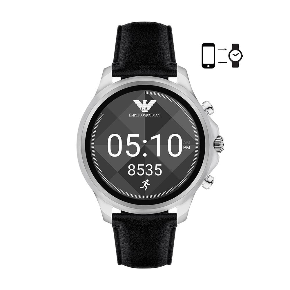 Smartwatch Emporio Armani Masculino Prata - ART5003 0PI - timecenter 3d5805e746