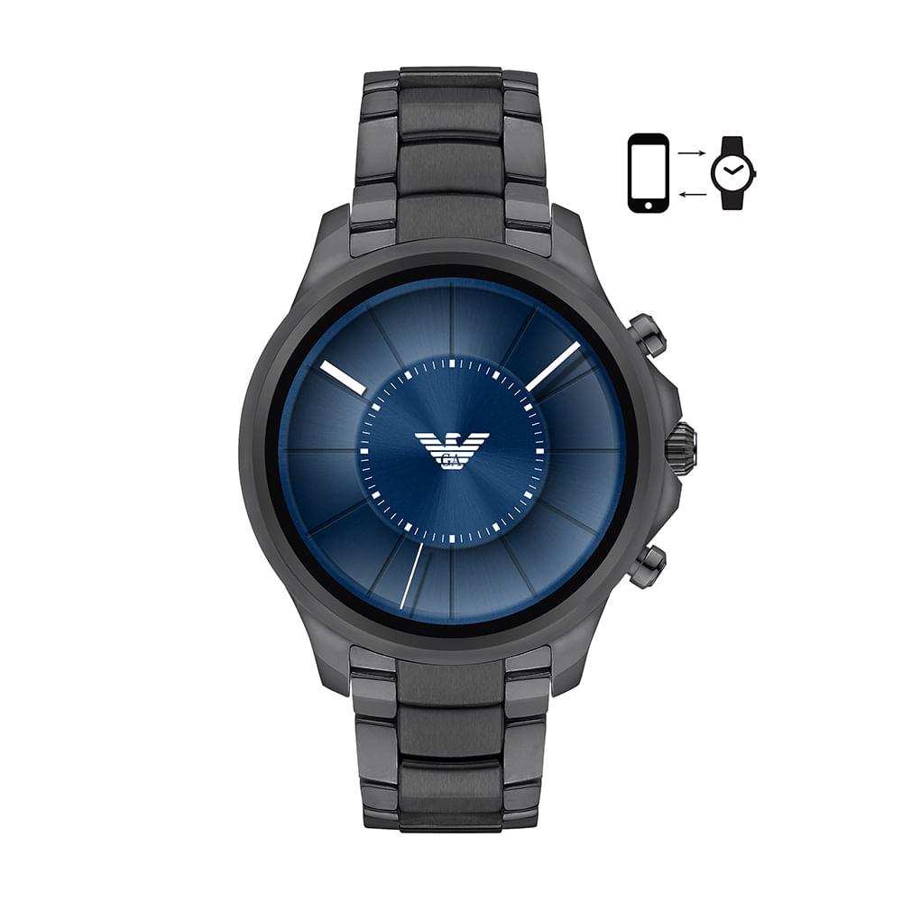Smartwatch Emporio Armani Masculino Grafite - ART5005 1FI - timecenter 1b09c6c5c9