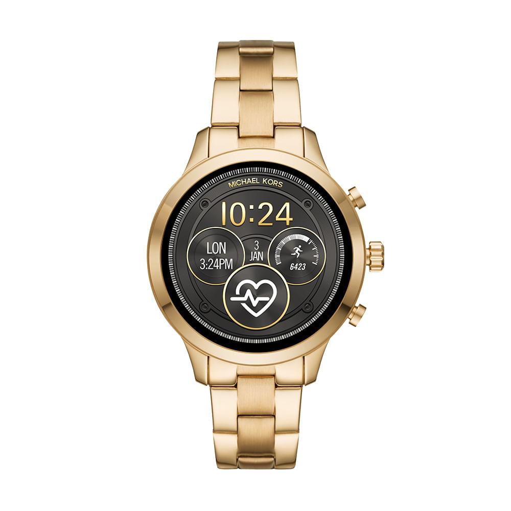 e1306d58321a4 Smartwatch Michael Kors Feminino Runway Dourado - MKT5045 1DI ...