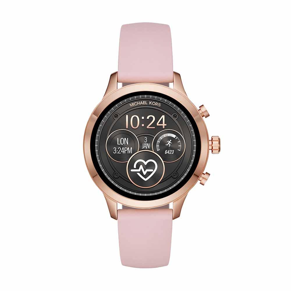 4f86e135bc569 Smartwatch Michael Kors Feminino Runway Rosé - MKT5048 0TI - timecenter