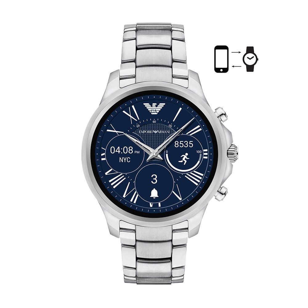 Relógio Emporio Armani Masculino Prata - ART5000 1KI - timecenter 30555972ba