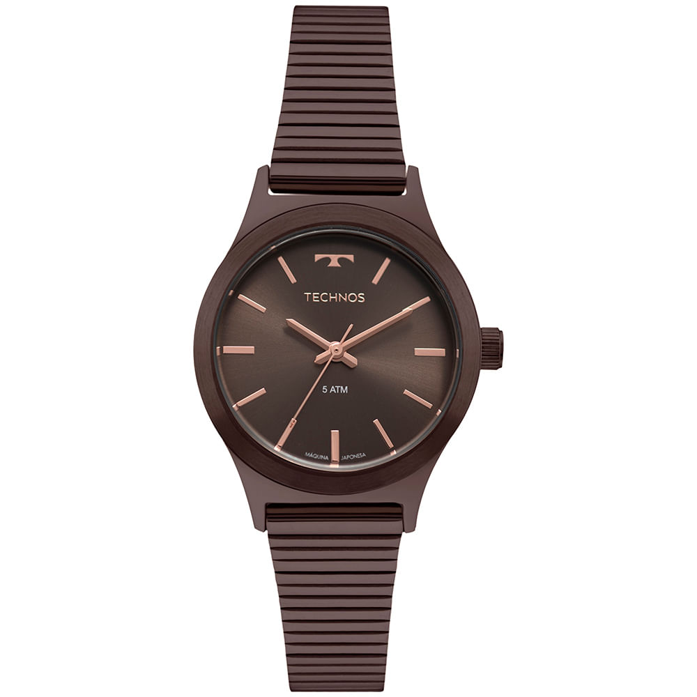 5fafd4c758b67 Relógio Technos Boutique Feminino Marrom 2035MQH 4M - timecenter