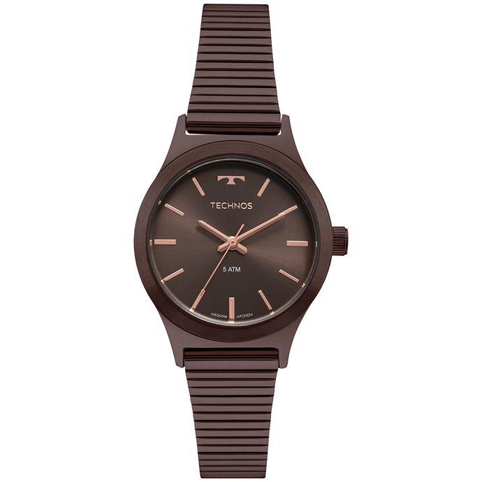 12f2788ad55 Relógio Technos Boutique Feminino Marrom 2035MQH 4M