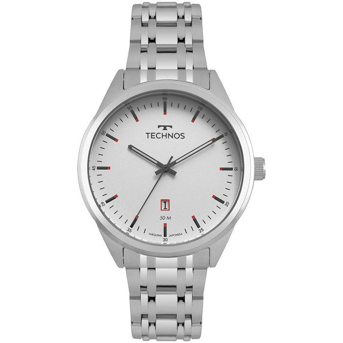 7bae8133894f9 Relógio Technos Steel Masculino Prata 2115MSA 1B - technos