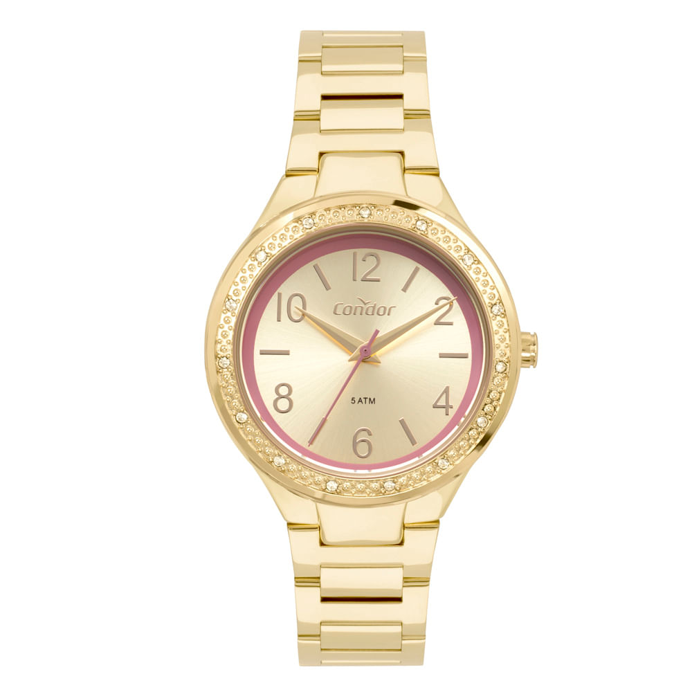 36ad7449cf6 Relógio Condor Bracelete Feminino Dourado CO2035MQI 4D - timecenter