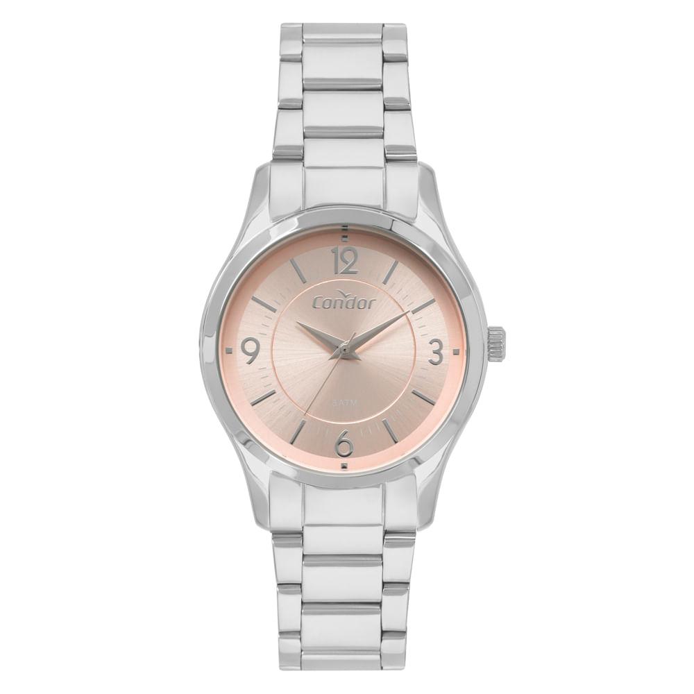 f44b9aeb417 Relógio Condor Bracelete Feminino Prata CO2036KVM K3J. 0% Off. Código   CO2036KVM K3J