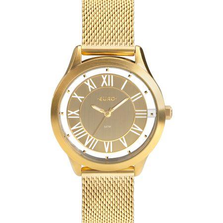 Relógio Euro Ouse Ser Você Mesma Feminino Dourado EU2039JH/4D