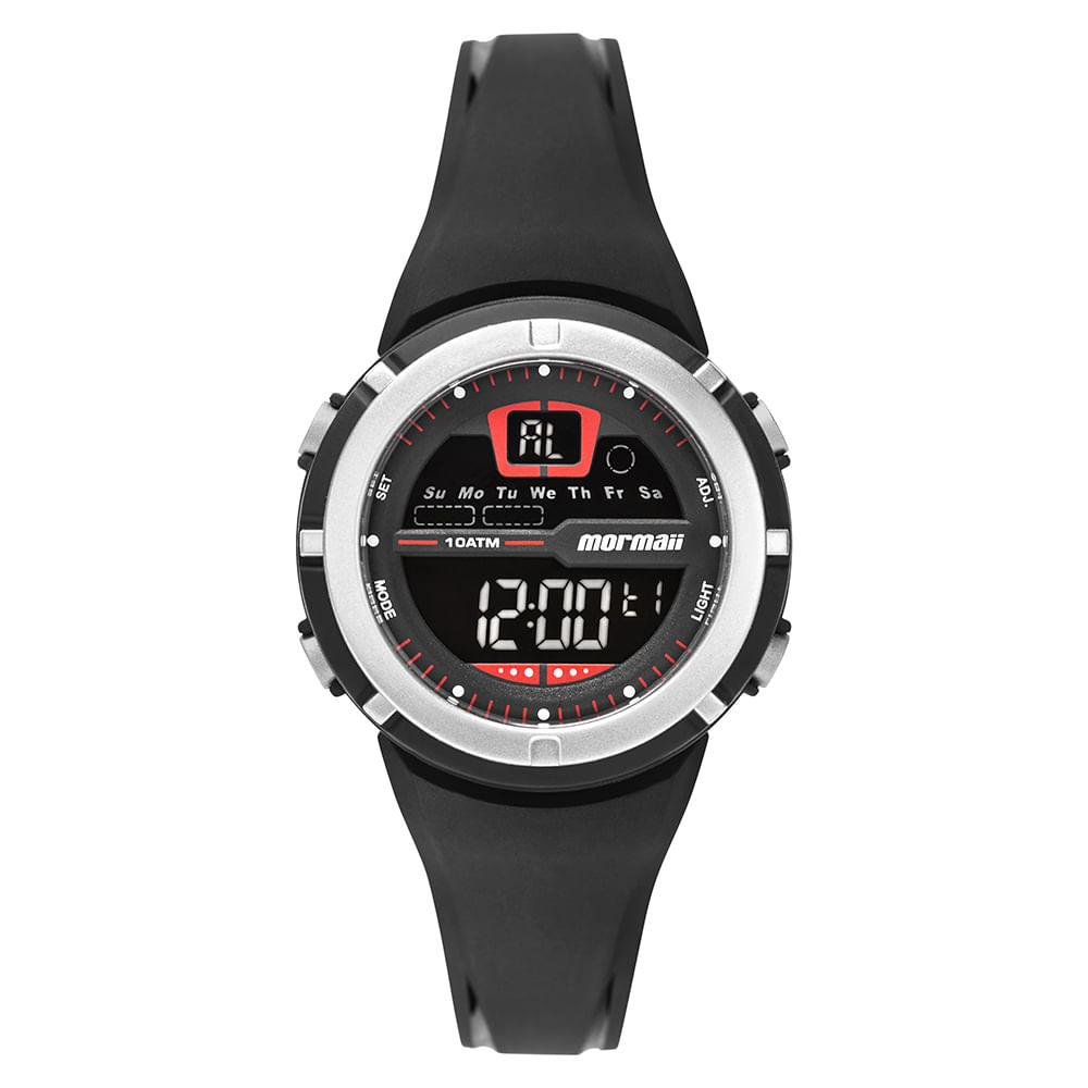 Relógio Mormaii Fun Unissex Prata MO2600AB 8R - timecenter 646c0a67a4