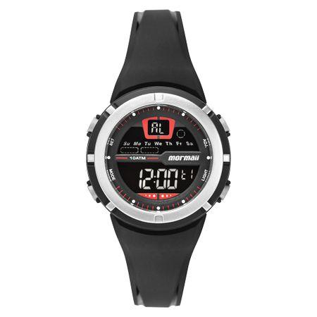Relógio Mormaii Fun Unissex Prata MO2600AB/8R