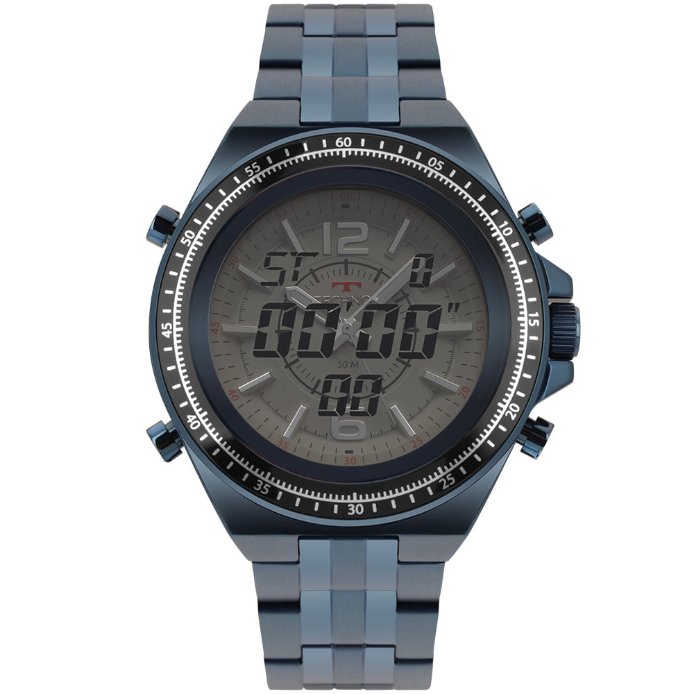 ce1ddfd003fee Relógio Technos Ts Digiana Masculino Azul 2035MOR 4C - timecenter