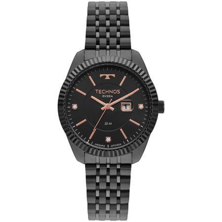 Relógio Technos Riviera Feminino Preto 2015CCV/4P