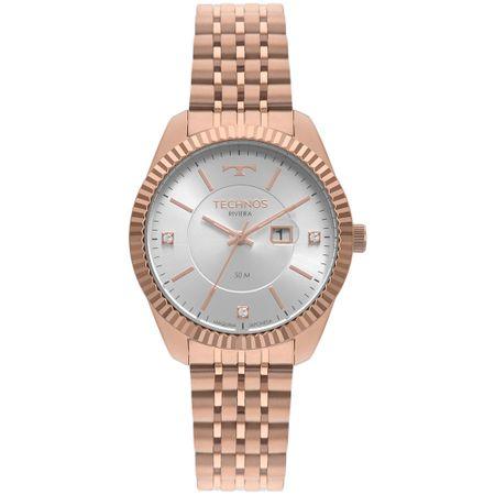 Relógio Technos Riviera Feminino Rosé 2015CCW/4K