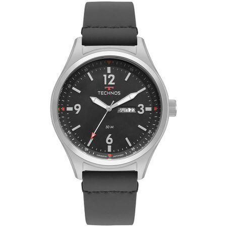 Relógio Technos Militar Masculino Prata 2105AY/0C