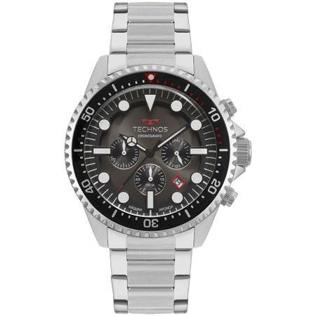 Relógio Technos Skymaster Masculino Prata JS25CB/1P
