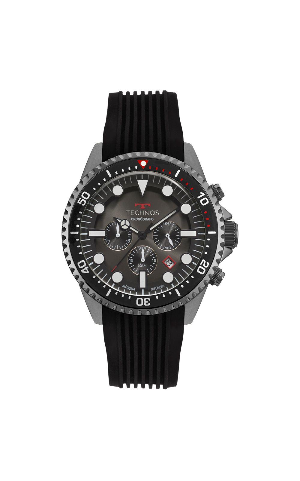 61cb88551cde6 Relógio Technos Skymaster Masculino Grafite JS25CC 8P