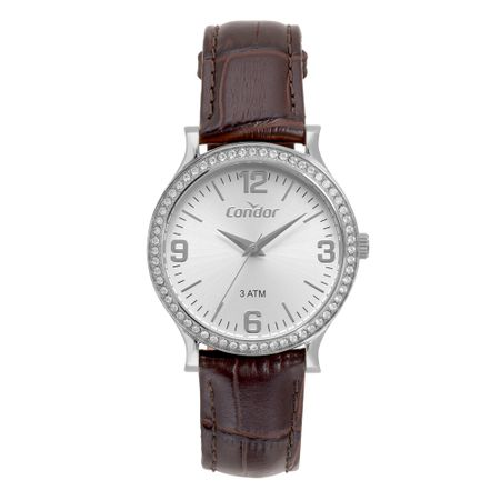 Relógio Condor Bracelete Feminino Prata CO2039BK/2K