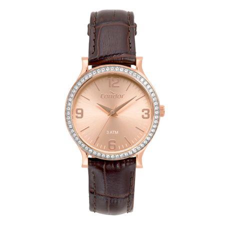 Relógio Condor Bracelete Feminino Rosé CO2039BL/2T