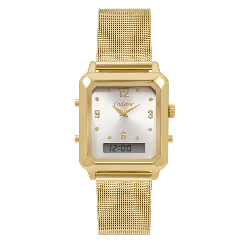 1aef0a986ec Relógio Condor Top Fashion Feminino Dourado COBJ3718AB 4K - timecenter