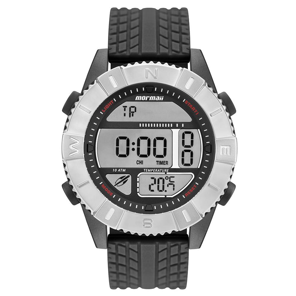 1b8f73a01ca6b Relógio Mormaii Action Masculino Prata MO5334AC 8P - timecenter
