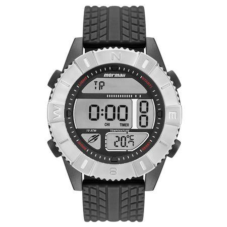 d7d5175aa3705 Relógio Mormaii Action Masculino Prata MO5334AC 8P