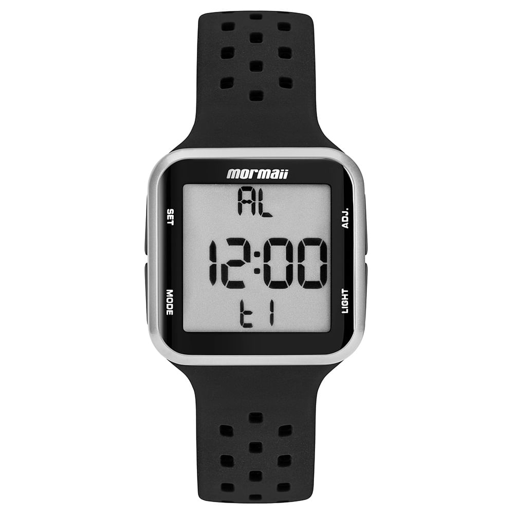 692e4c5096b Relógio Mormaii Wave Unissex Prata MO6600AA 8K - timecenter