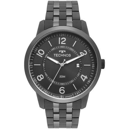 Relógio Technos Steel Masculino Grafite 2115MSS/4C