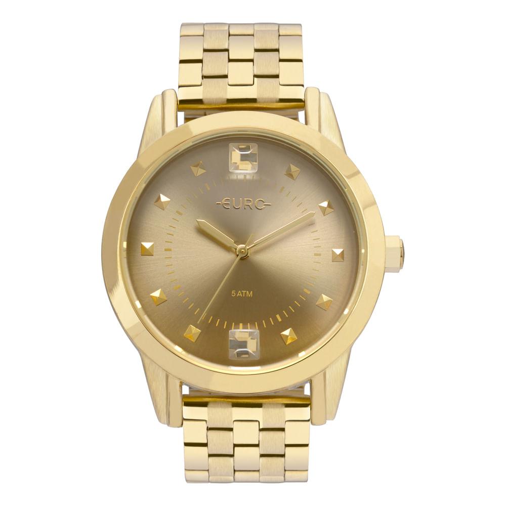 64803f077f0c4 Relógio Euro Construções Feminino Dourado EU2035YRT 4D - timecenter