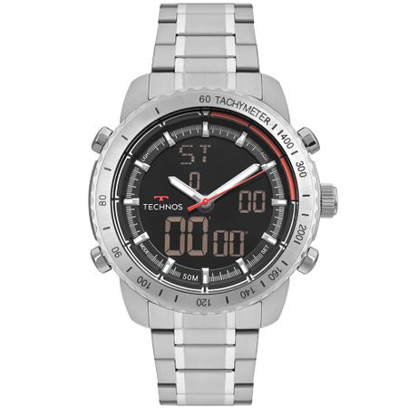 Relógio Technos Ts Anadigi Masculino Prata W23745AA/1P