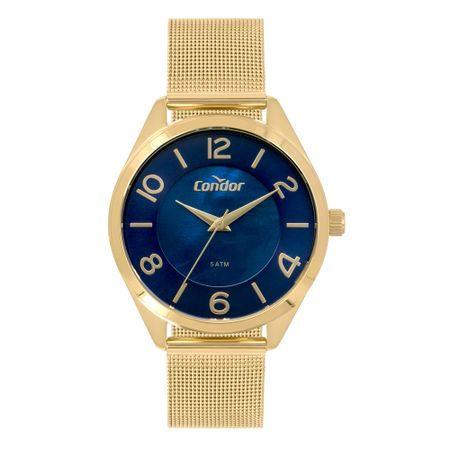 Relógio Condor Bracelete Feminino Dourado CO2036KWU/4A