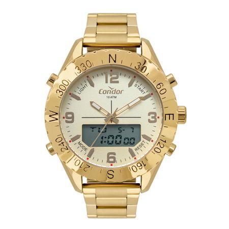 Relógio Condor Anadigi Masculino Dourado COBJ3689AB/4X