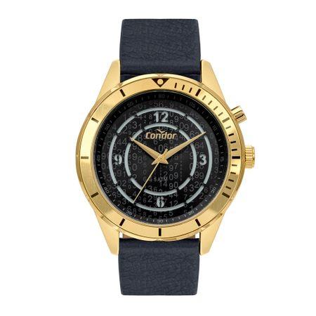 Relógio Condor Traveler Masculino Dourado COY121E3AC/2D