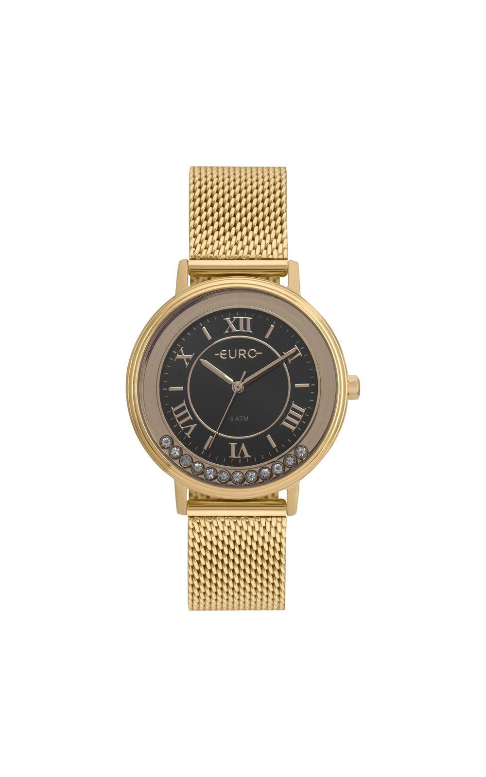 Foto 1 - Relógio Euro Crystal Move Feminino Dourado EU2035YRU/4P