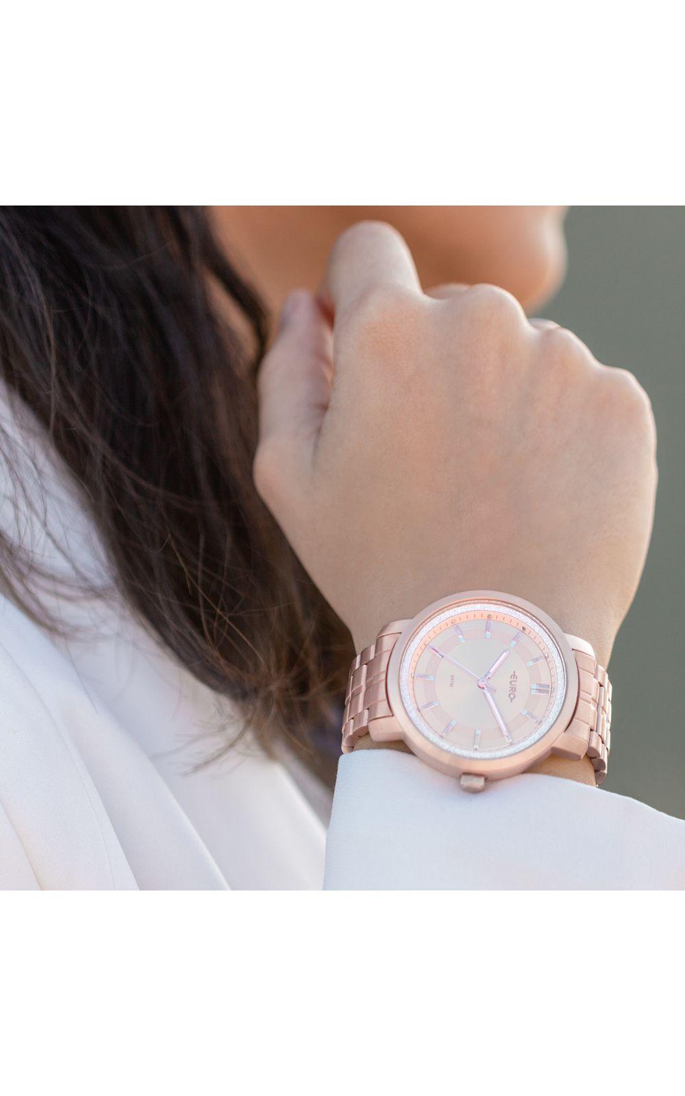 Foto 4 - Relógio Euro Casual Shine Feminino Rosé EU2036YPA/4J