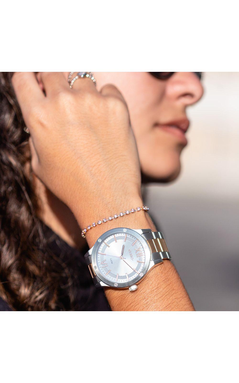 Foto 4 - Relógio Euro Boyfriend Feminino Bicolor EU2036YPE/5K