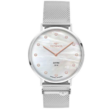 Relógio Technos Slim Feminino Prata 2025LTL/1B