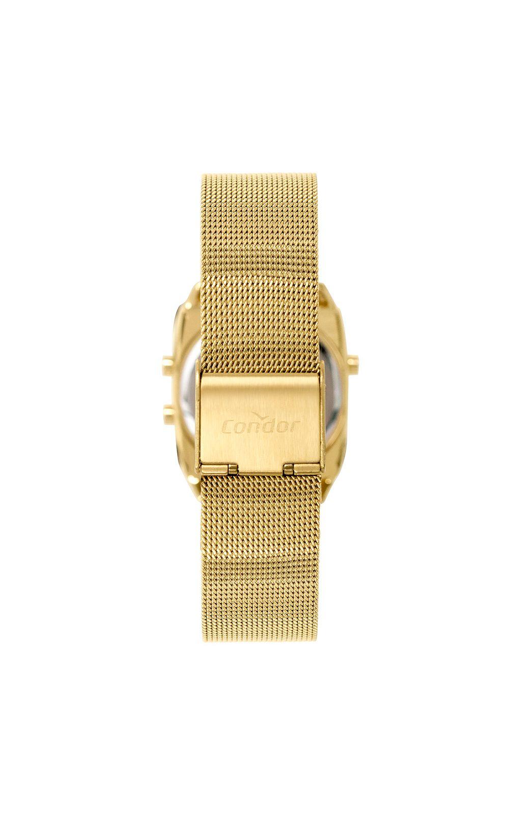 Foto 3 - Relógio Condor Mini Feminino Dourado COJH512AE/4D