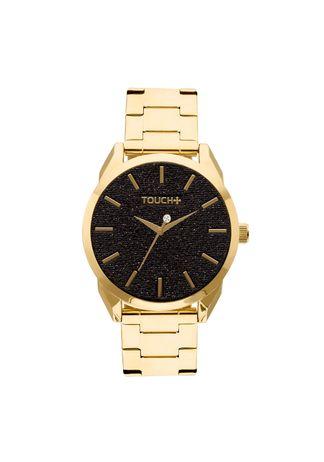 Relogio-Touch-Dourado-com-Glitter-Preto---TW2039AN-4P